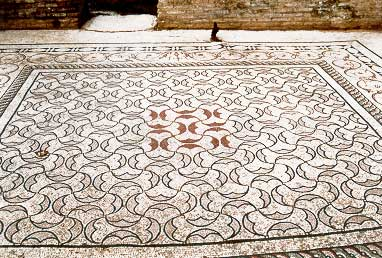 Pelta mosaic from the Kladeos baths in Olympia