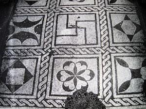 Six-leaved rosette in Pompeii